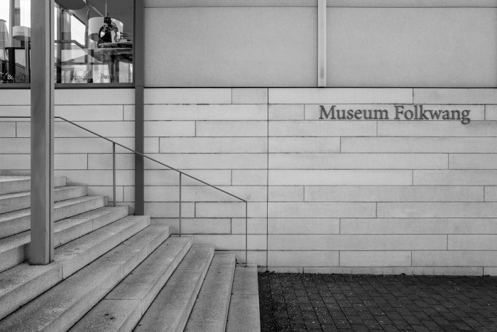 Museum Folkwang lettering seen on a brick wall