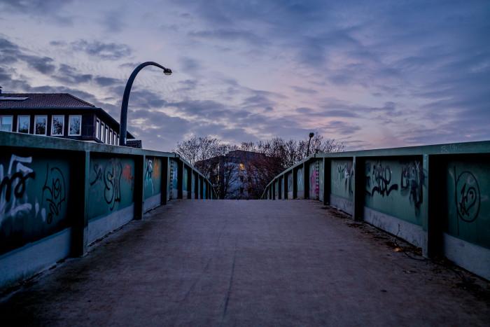 Foot bridge at dawn