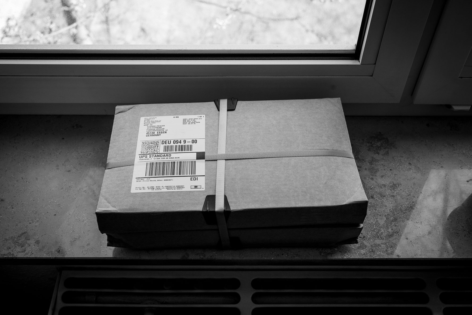 A package, containing copies of my first photo zine