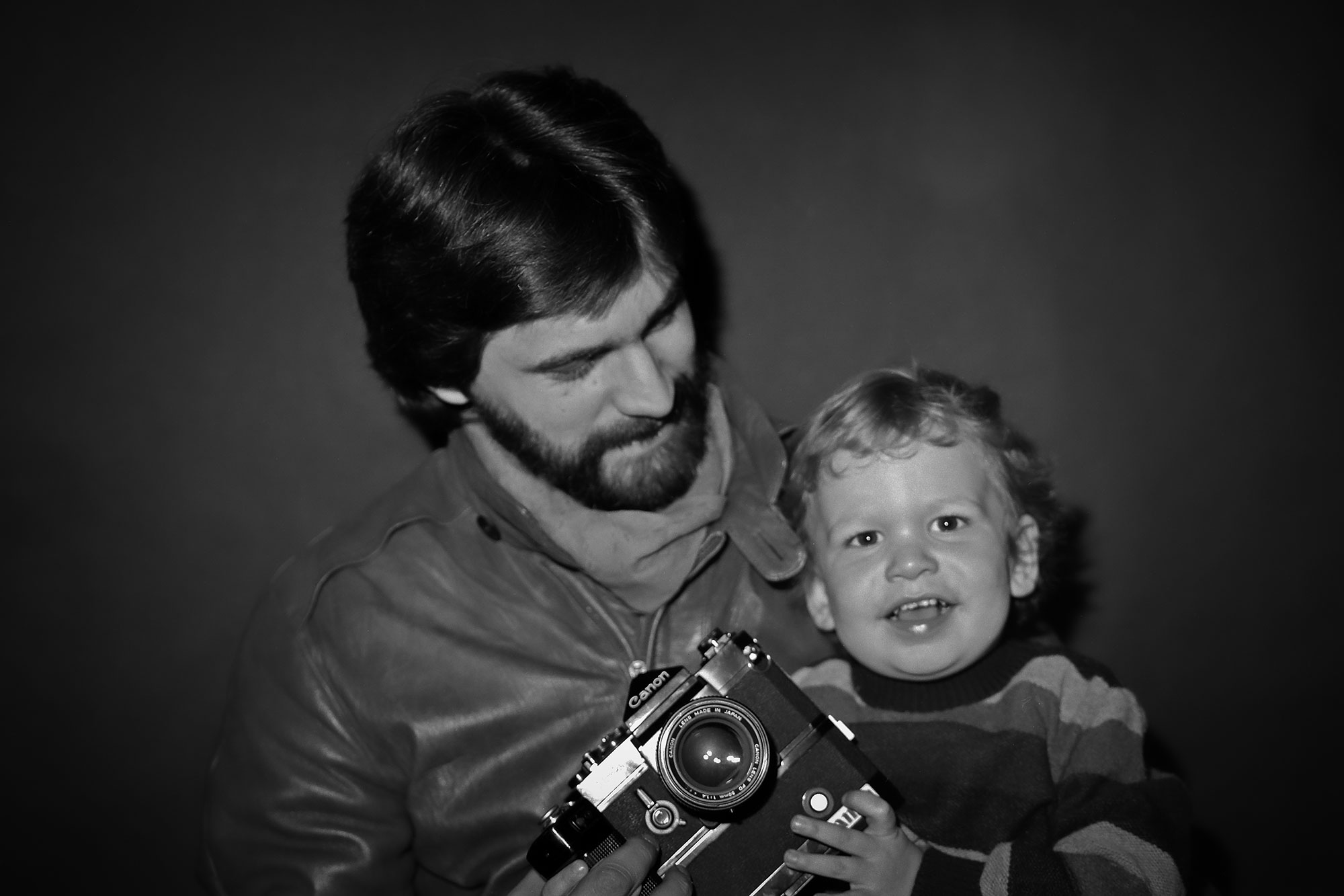 Me, my dad and his Canon F1