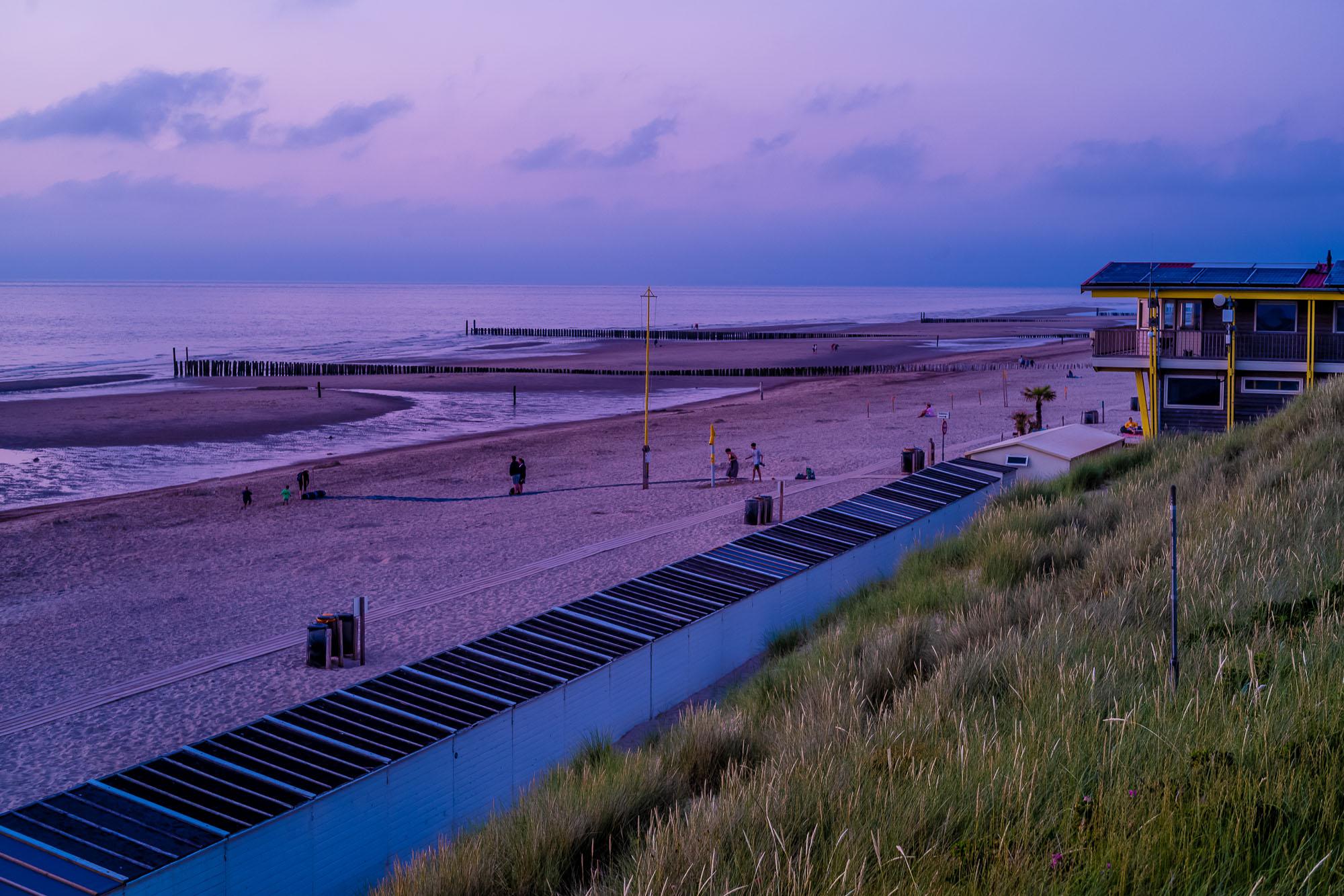 Domburg beach during sunset