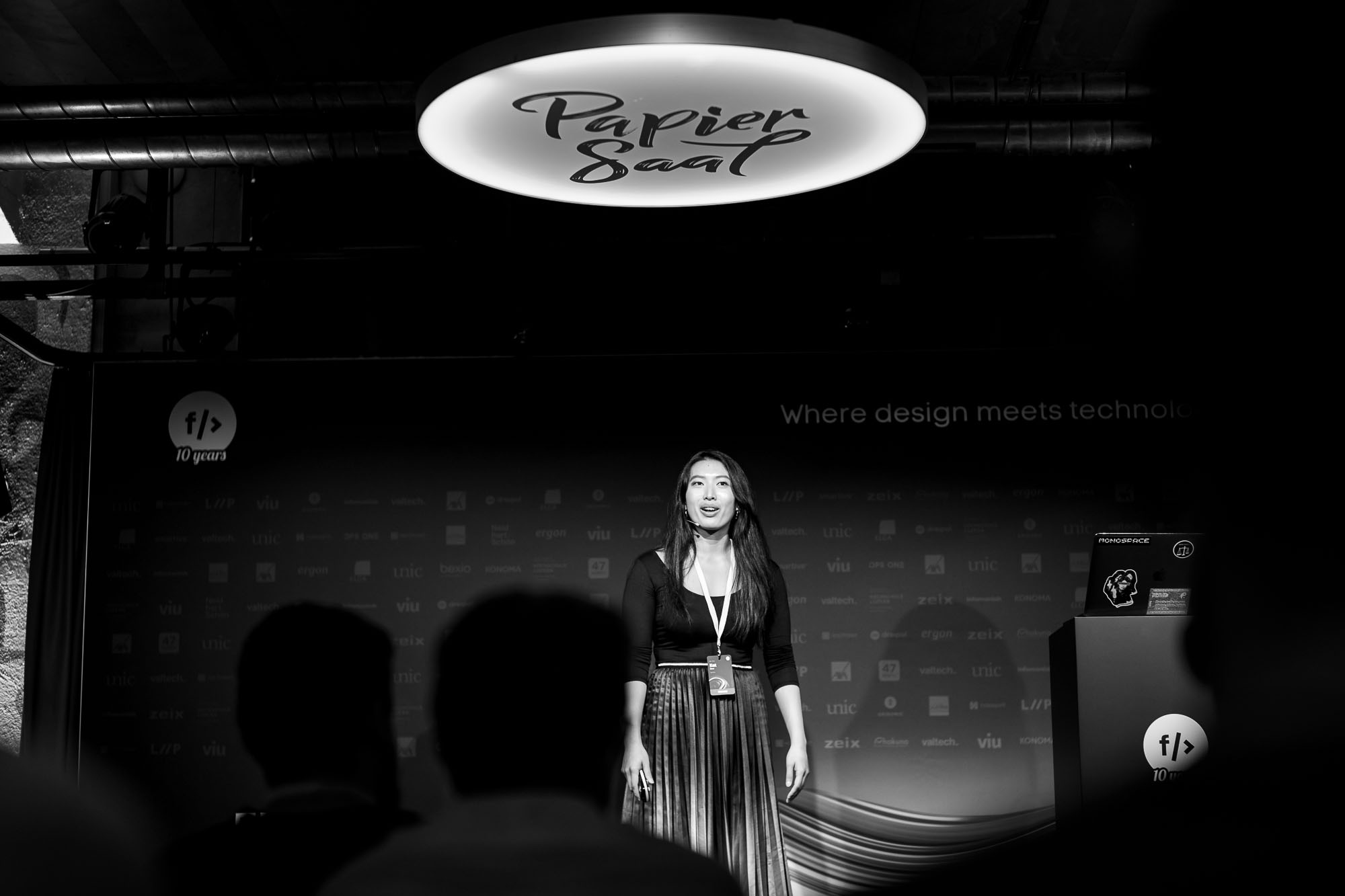 Kat Zhou on stage at Front Conference 2021