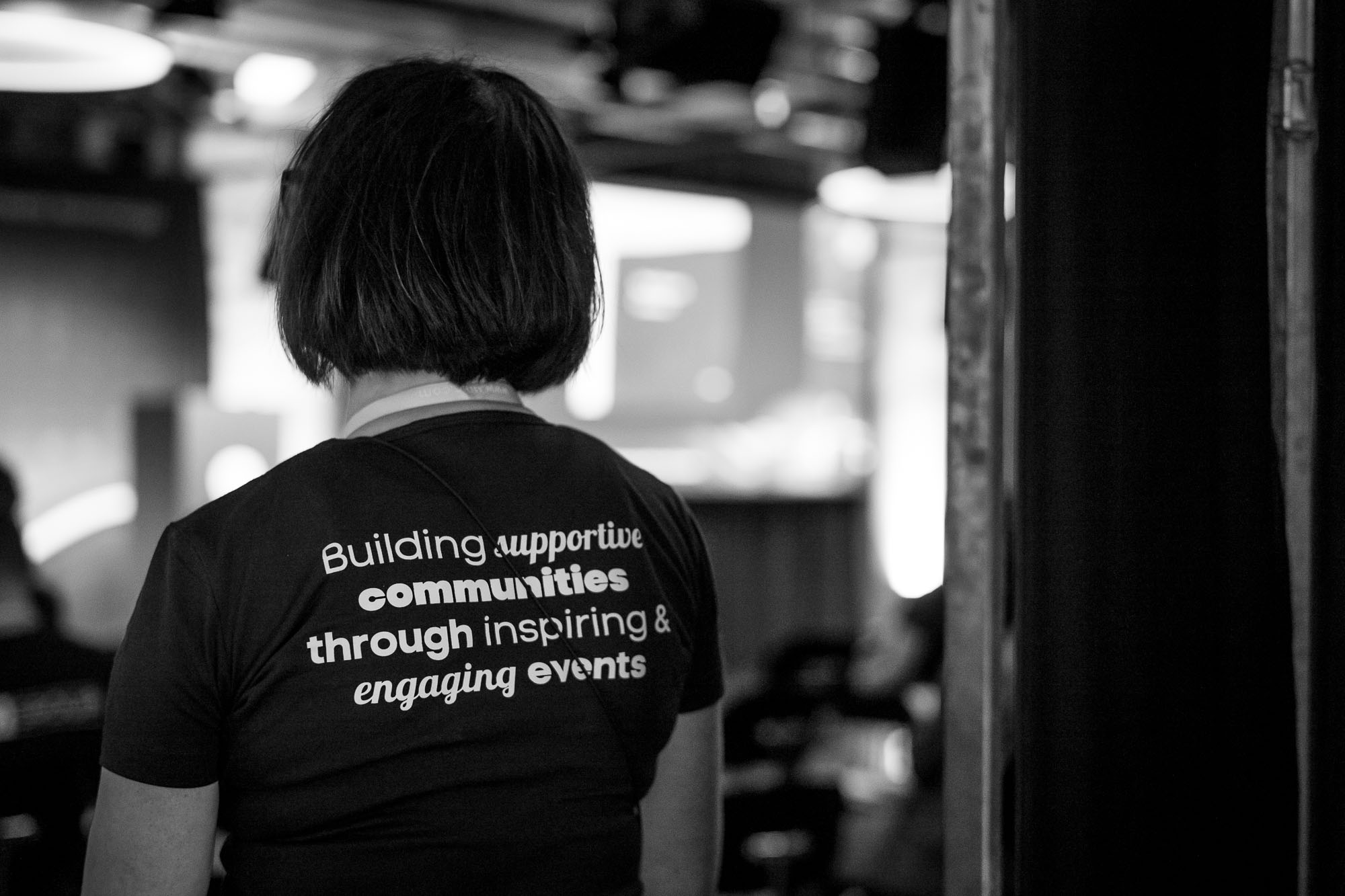 Volunteer t-shirt at Front Conference 2021