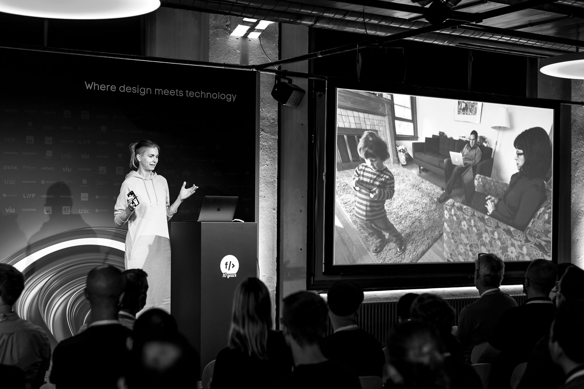 Astrid Weber on stage at Front Conference 2021