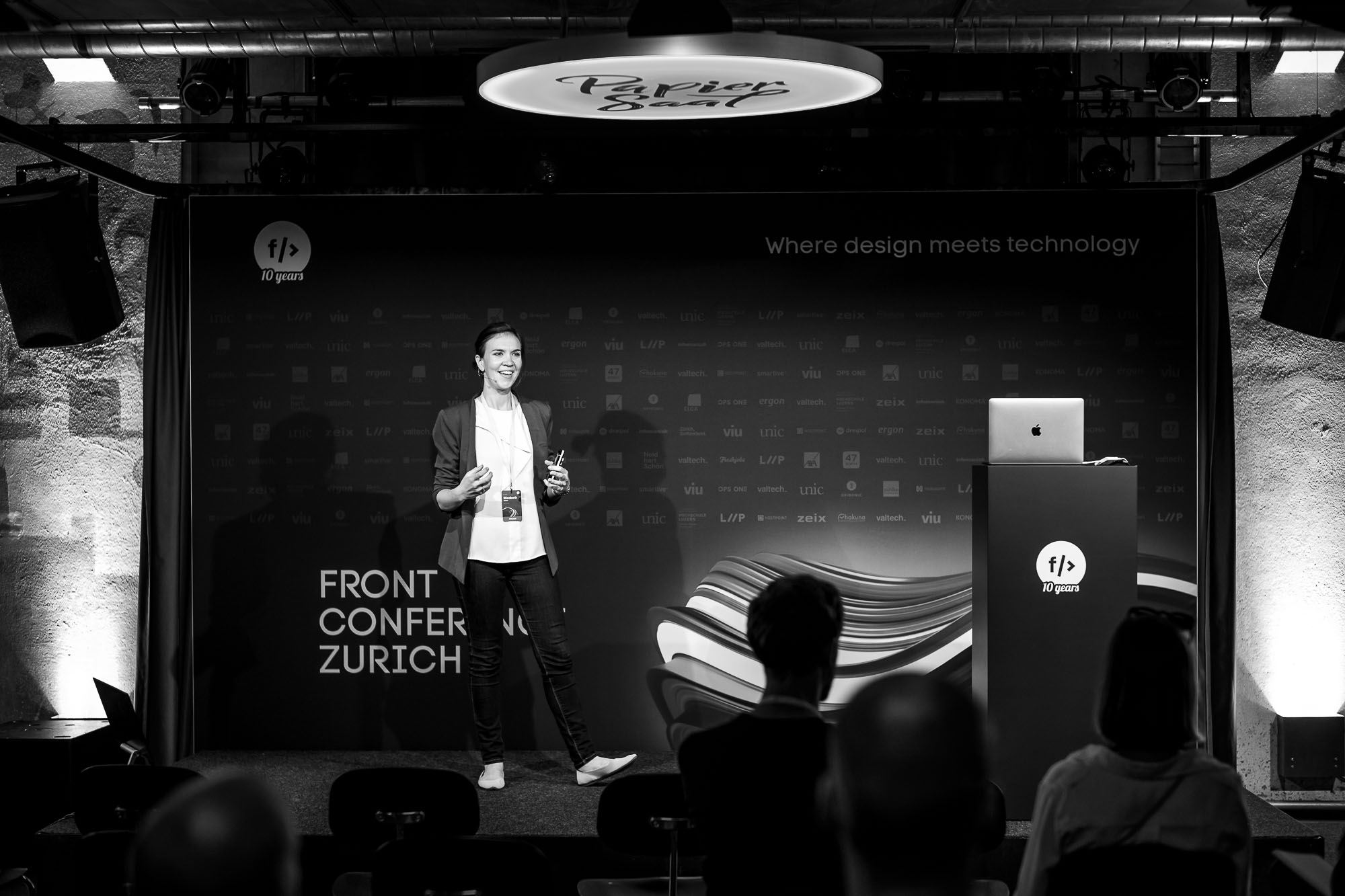 Elizabeth Immer on stage at Front Conference 2021