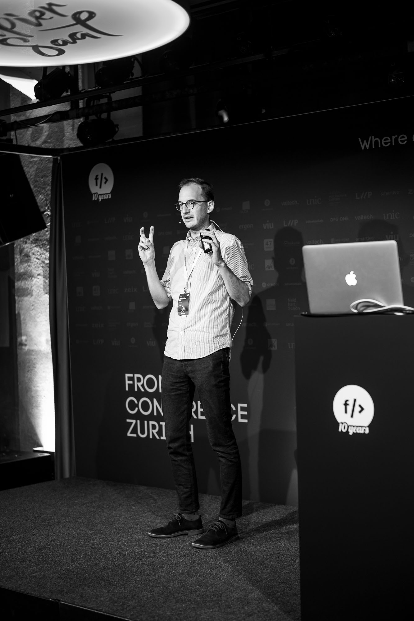 Matthias Karg on stage at Front Conference 2021