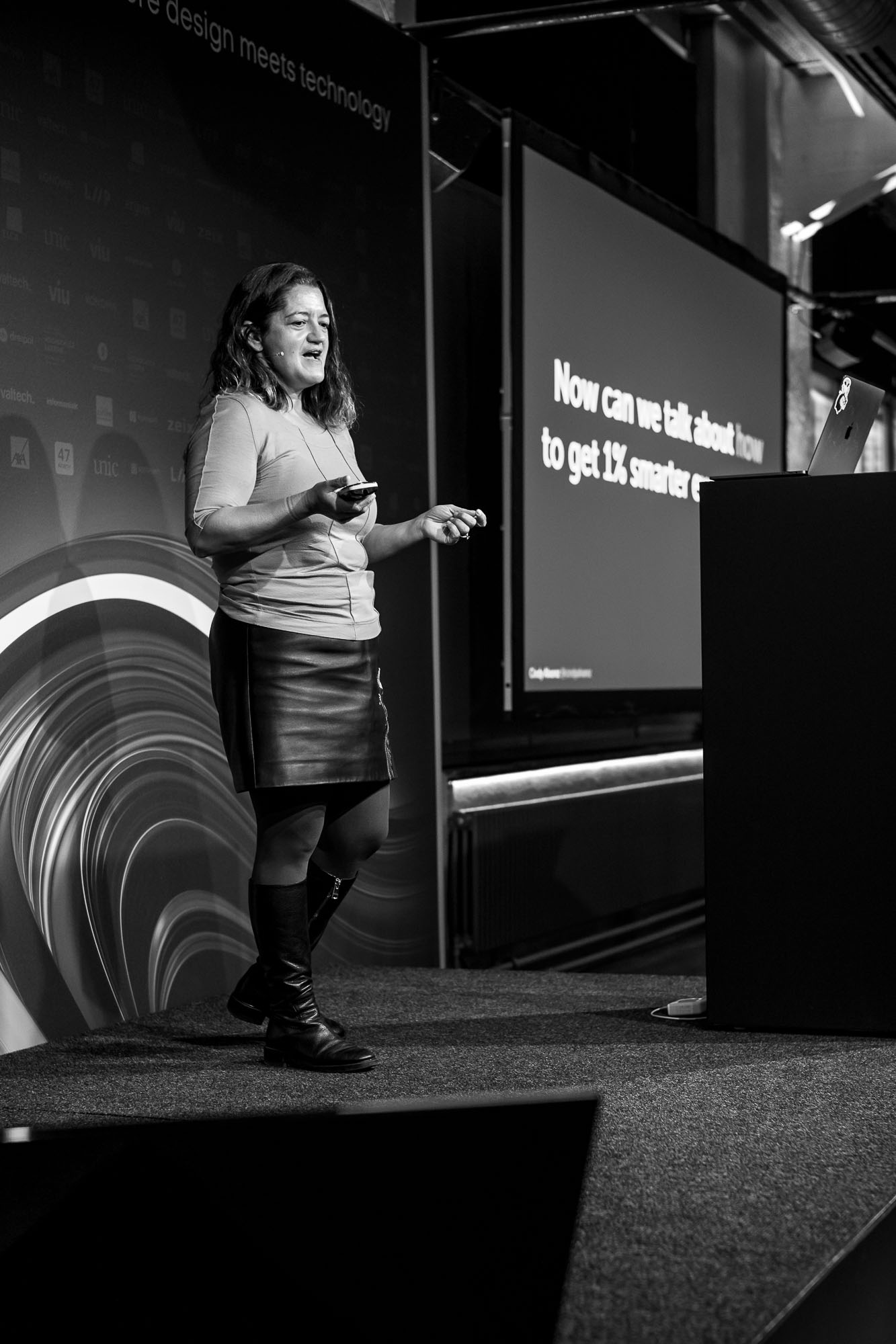 Cindy Alvarez on stage at Front Conference 2021
